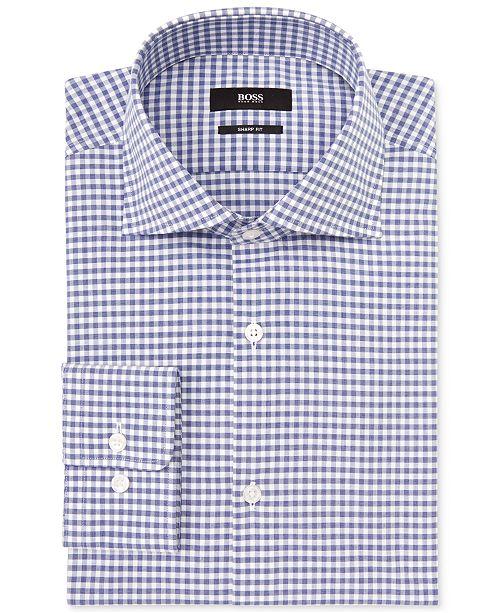 Hugo Boss BOSS by Gingham Check Dress Shirt
