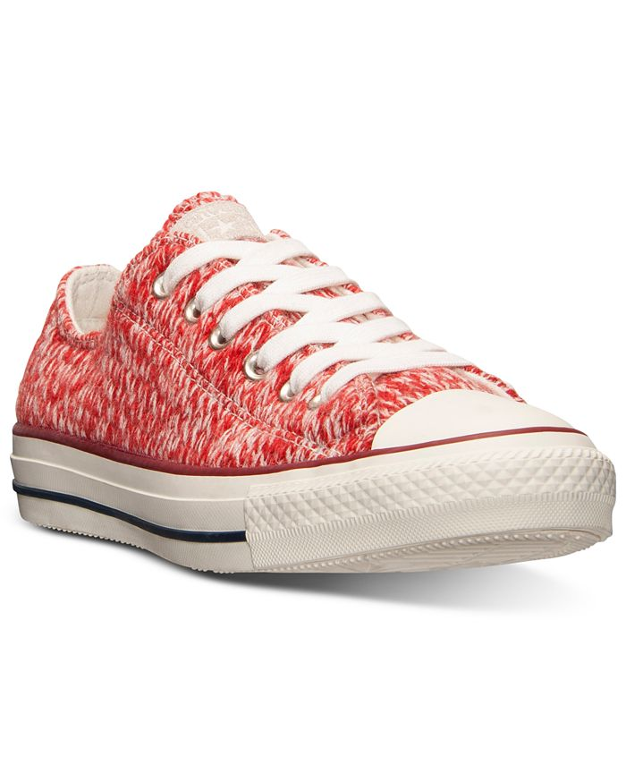 Converse - Women's Chuck Taylor Ox Winter Knit Casual Sneakers from Finish Line