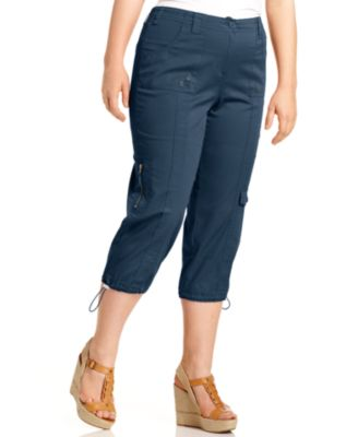 Style & Co Plus Size Cargo Capri Pants - Pants & Capris - Plus ...