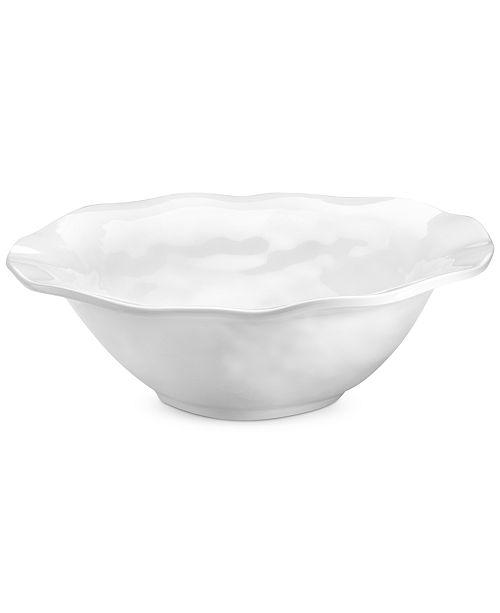 "Q Squared Ruffle White Melamine 12"" Serving Bowl"