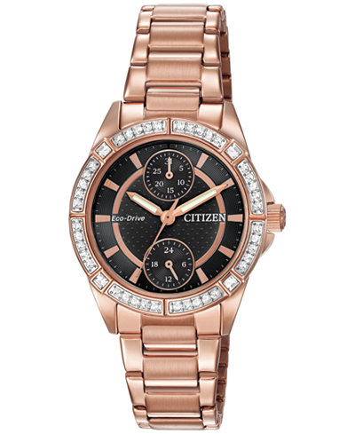 Citizen Women's Drive from Citizen Eco-Drive Rose Gold-Tone Stainless Steel Bracelet Watch 33mm FD3003-58E