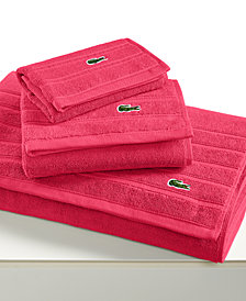 """CLOSEOUT! Lacoste Croc Solid 13"""" Square Washcloth"""