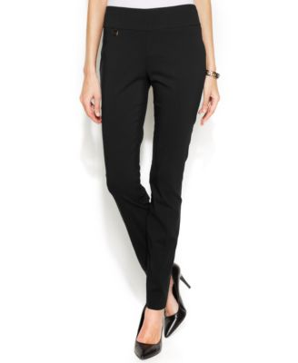 Image of Alfani Tummy-Control Skinny Pants, Created for Macy's