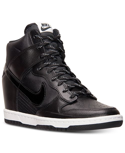 timeless design 4ba2d 4d4eb ... Nike Women s Dunk Sky Hi Essential Sneakers from Finish ...