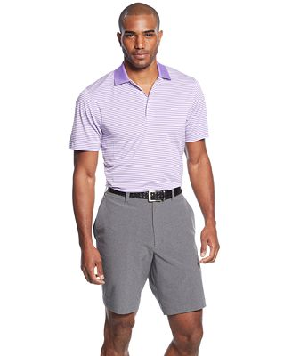 Cutter & Buck Big and Tall Men's Drytec Striped Polo & Solid Shorts