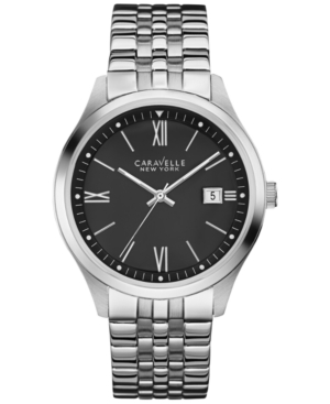 Caravelle New York by Bulova Men's Stainless Steel Bracelet Watch 41mm 43B144
