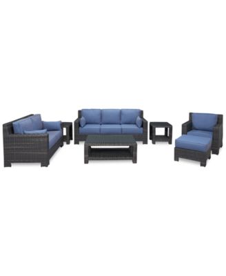 Viewport Outdoor Wicker 7-Pc. Seating Set (1 Sofa, 1 Loveseat, 1 Club Chair, 1 Ottoman, 1 Coffee Table and 2 End Tables), Created for Macy's