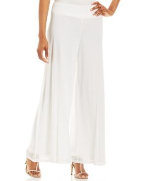 Retro Pants & Jeans Msk Wide-Leg Chiffon Pants $49.00 AT vintagedancer.com