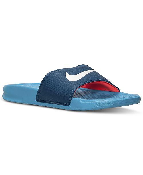 890c07488830 Nike Men s Benassi Swoosh Slide Sandals from Finish Line ...