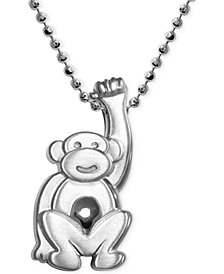 Little Monkey Zodiac Pendant Necklace in Sterling Silver