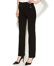 Calvin Klein High-Rise Straight-Leg Compression Pants