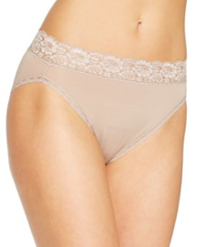Vanity Fair Women's Flattering Lace Hi-Cut Panty Underwear 13280, also available in extended sizes