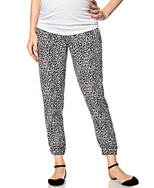 A Pea In The Pod Maternity Foldover Printed Pants