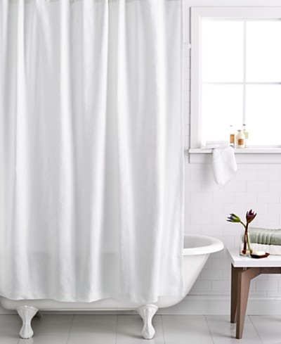 Hotel Collection Textured Wave Shower Curtain