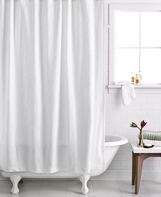 hotel collection textured wave shower curtain - shower curtains
