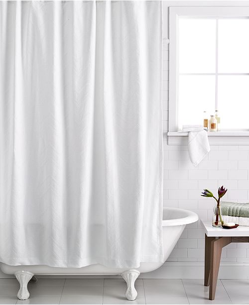Textured Wave Shower Curtain