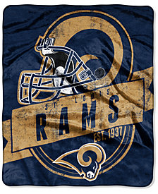 Northwest Company Los Angeles Rams Grand Stand Plush Throw Blanket