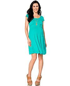 Motherhood Maternity Short-Sleeve Empire-Waist A-Line Dress