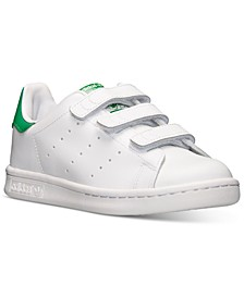 Little Boys' Originals Stan Smith Stay-Put Closure Casual Sneakers from Finish Line