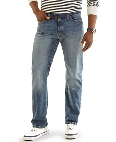 Nautica Relaxed-Fit Light-Wash Denim Jeans