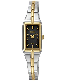 Seiko Women's Solar Two-Tone Stainless Steel Bracelet Watch 15mm SUP274