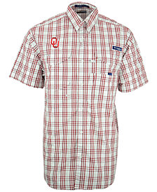 Columbia Men's Short-Sleeve Oklahoma Sooners Button-Down Shirt