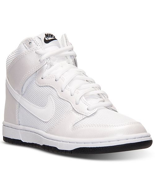 online store 6c8f2 db606 ... Nike Women s Dunk High Skinny Casual Sneakers from Finish ...