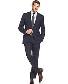 BOSS Navy Solid Jam Sharp Extra-Slim-Fit Suit