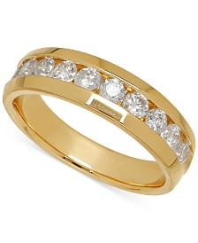 Men's Diamond Band in 14k Yellow Gold (1 ct. t.w.)