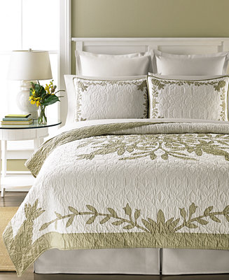 Martha stewart collection 100 cotton aloha king quilt quilts bedspreads bed bath macy 39 s Martha stewart bathroom collection