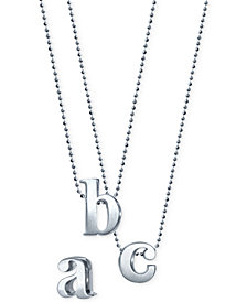 Little Letter by Alex Woo Initial Pendant Necklace in Sterling Silver