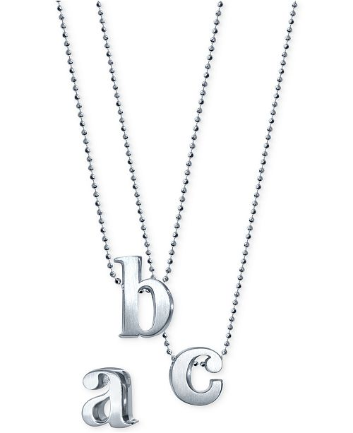 alex woo little letter by initial pendant necklace in sterling silver necklaces jewelry watches macys