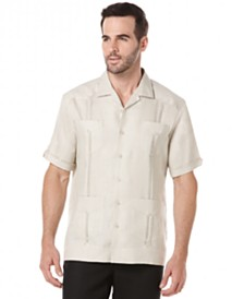 Cubavera Short-Sleeve 4-Pocket 100% Linen Guayabera Shirt