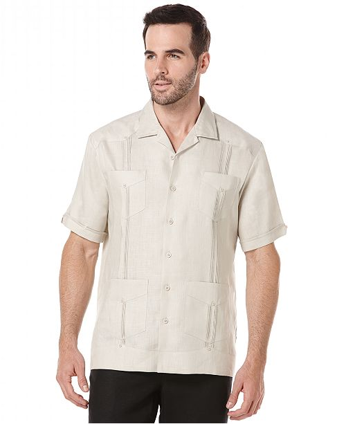 ab43eba38655d Cubavera Short-Sleeve 4-Pocket 100% Linen Guayabera Shirt   Reviews ...
