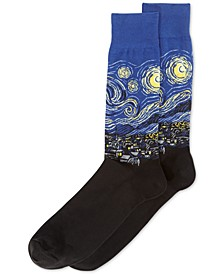 Men's Socks, Starry Night