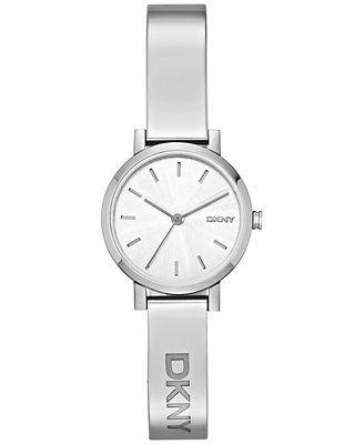 DKNY Women's Soho Stainless Steel Half-Bangle Bracelet Watch 24mm NY2306