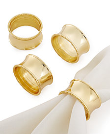 Excell Beaded Elegance Set of 4 Napkin Rings