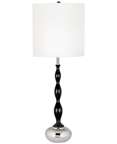 Pacific coast curvy column with chrome base table lamp