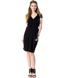 Seraphine Maternity Empire-Waist Lace-Back Dress