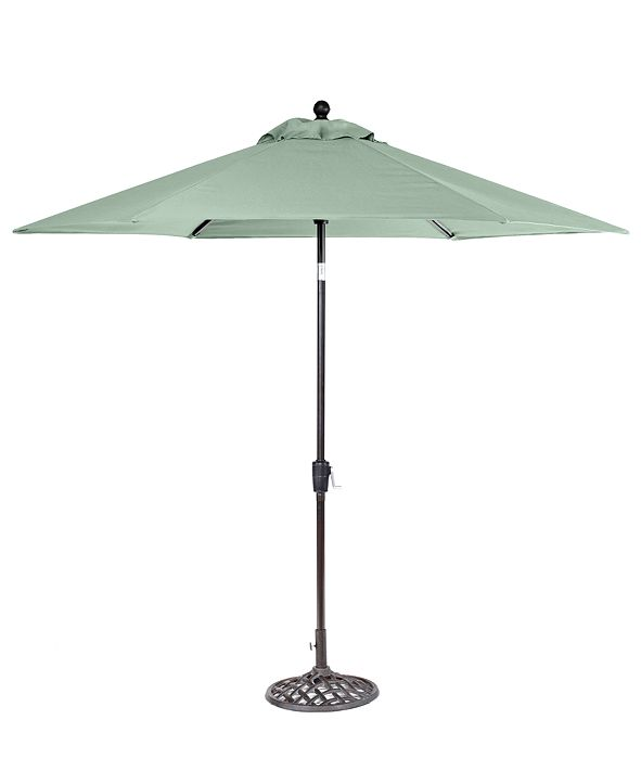 Furniture Nottingham Outdoor 9' Umbrella & Base, Created for Macy's