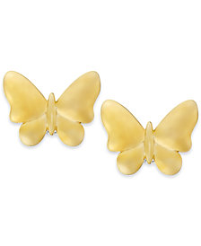 Butterfly Stud Earrings in 10k Gold