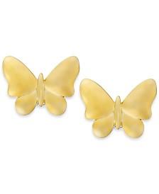Butterfly Stud Earrings in 10k Gold