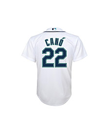 Majestic Kids' Robinson Cano Seattle Mariners Replica Jersey, Big Boys (8-20)