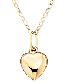 Children's 14k Gold Heart Necklace