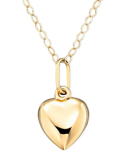 Childrens 14k gold heart necklace necklaces jewelry watches childrens 14k gold heart necklace aloadofball Choice Image