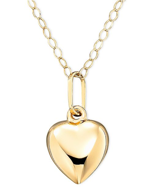 Macy's Children's 14k Gold Heart Necklace
