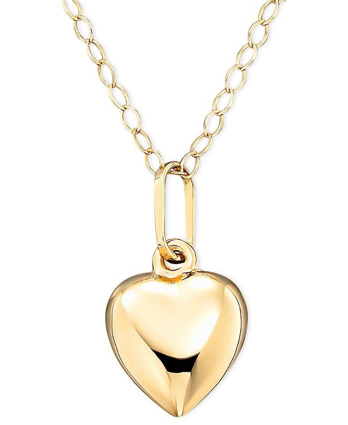 Macy's - Children's 14k Gold Heart Necklace