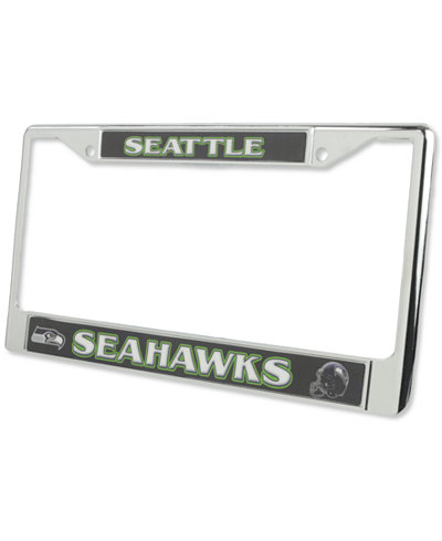 Rico Industries Seattle Seahawks Chrome License Plate Frame - Sports ...