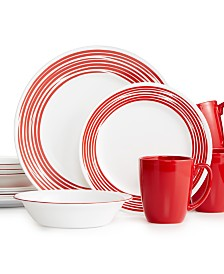 Corelle Brushed Red 16-Pc. Dinnerware Set, Service for 4