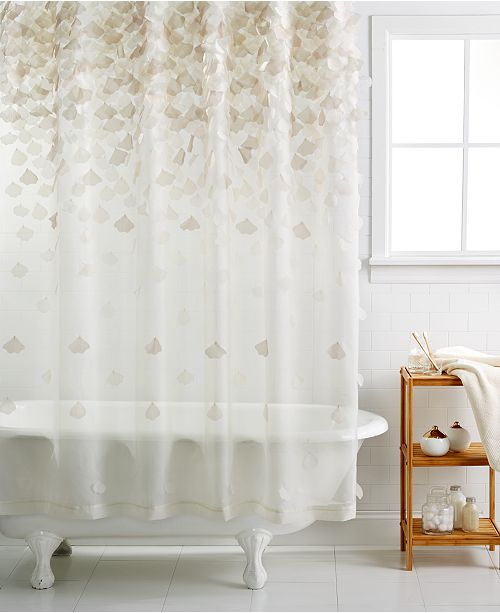 Martha Stewart Collection CLOSEOUT Falling Petals Shower Curtain